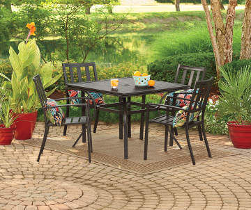 outdoor top in best patio folding reviews dining set cheap sets