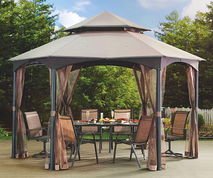 Wilson Amp Fisher Southbay Hexagon Gazebo With Sanibel