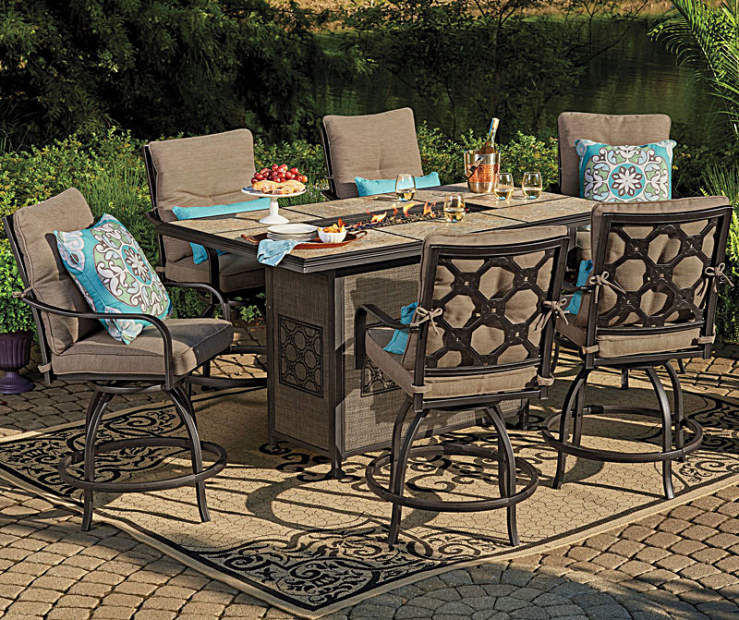 Dining Table Big Lots: Wilson & Fisher Stoneridge High Top Patio Dining
