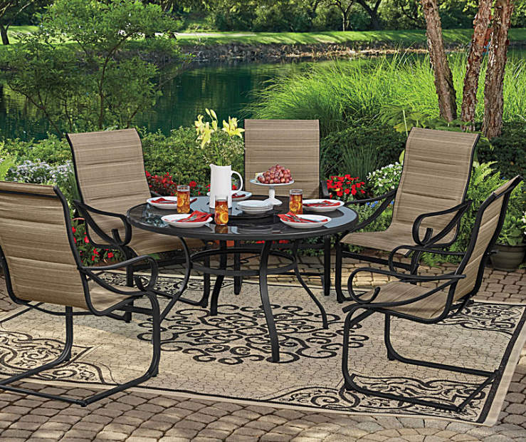 Wilson fisher tahoe patio dining collection big lots for Small patio sets on sale