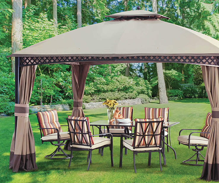 Wilson Fisher Windsor Dome Gazebo And Westport Dining Collection