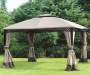 Windsor Dome Gazebo Repalcement Canopy 10 Feet by 12 Feet Outdoor Setting Lifestyle Image