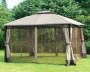 Windsor Dome Gazebo Repalcement Canopy 10 Feet by 12 Feet with Netting Down Outdoor Setting Lifestyle Image