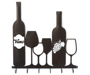 Wine Bottles Amp Glasses Metal Wall D 233 Cor With Hooks Big Lots