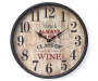 Wine Clock 12 Inches Overhead View Silo Image