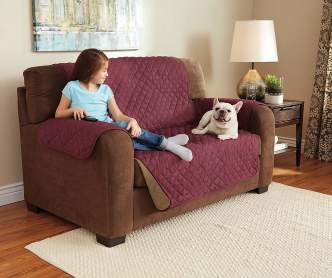 Sure Fit Taupe Stretch Loveseat Slipcover Big Lots