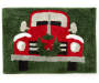 Winter Time Truck Bath Rug Overhead View Silo Image