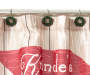Winter Time Truck Shower Curtain and Hooks Set Close Up Wreath Shower Rings Silo Image