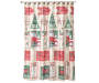 Winter Time Truck Shower Curtain and Hooks Set On Shower Rod Front View Silo Image