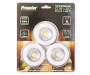 Wireless COB LED Puck Lights 3-Pack Silo In Package