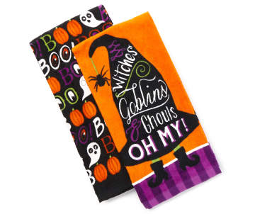 600 witches goblins halloween kitchen towels. beautiful ideas. Home Design Ideas