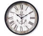 Wood Grain Anchor Clock 12 Inches Overhead View Silo Image