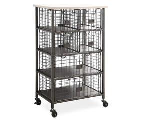 stratford wood metal 6 drawer rolling cart big lots. Black Bedroom Furniture Sets. Home Design Ideas
