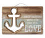 Wooden Anchor Cutout Hanging Wall Decor