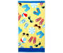 Yellow Flip Flops Beach Towel 34 inches x 64 inches silo front