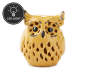 Yellow LED Color Changing Owl with Black Eyes and Beak Silo Image