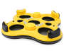 Yellow Rapid Rider 4 Person Inflatable Island Tube silo front