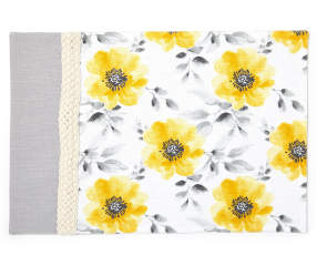 Master cuisine yellow gray floral braid placemat big lots mightylinksfo