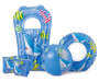 Youth Blue 5 Piece Inflatable Swim Set Out of Package Silo Image