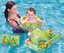 Youth Green 5 Piece Inflatable Swim Set Outdoor Setting with Model in Pool Lifestyle Image