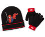 Youth Spider Man Hat and Glove Set Displayed Overhead Shot Silo Image