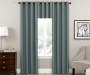 Zinnia Blue Blackout Curtain Panel 84in lifestyle