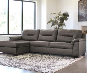 Signature Design By Ashley Carrillo Gray Faux Leather