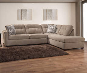 Pasadena Tan Living Room Sectional Big Lots