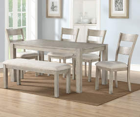 Stratford Hayden Gray 6 Piece Dining Set With Bench Big Lots