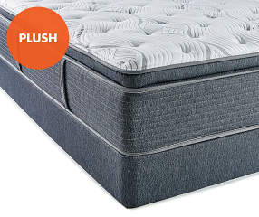 Serta Plush Queen Mattress Amp Low Profile Box Spring Set
