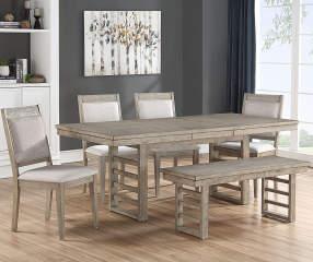 big lots dining room table   Ellington Trestle Gray 6-Piece Dining Set   Big Lots