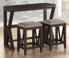 Espresso Folding 3 Piece Dining Set Big Lots