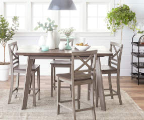 fairhaven dining table chairs set big lots. Black Bedroom Furniture Sets. Home Design Ideas