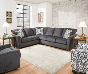 Simmons Dawson Denim Living Room Sectional Big Lots