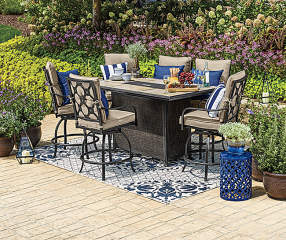 Wilson Amp Fisher Stoneridge 7 Piece High Top Dining Set