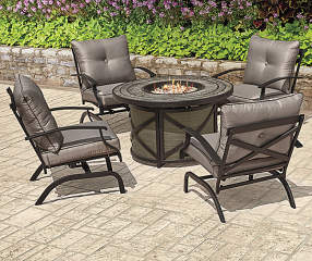 Wilson Amp Fisher Canyon 5 Piece Fire Pit Chat Set Big Lots
