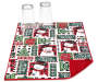 snowman and patchwork reversible dish drying mat with cups corner folded silo image