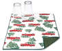 truck and tree reversible dish drying mat with cups silo image