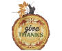 """GIVE THANKS"" TREE SLAB DÉCOR"
