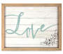 """Love"" Framed Wall Plaque"