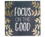 Focus on the Good Gold Leaf Box Wall Plaque Silo Image Front VIew