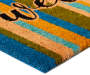 Welcome  Multi Color Stripe Coir Outdoor Doormat 18 inch x 30 inch silo front corner