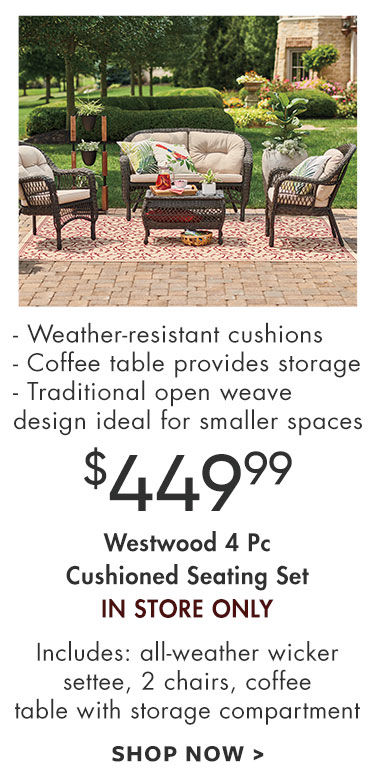 shadow creek five piece cushioned seating set