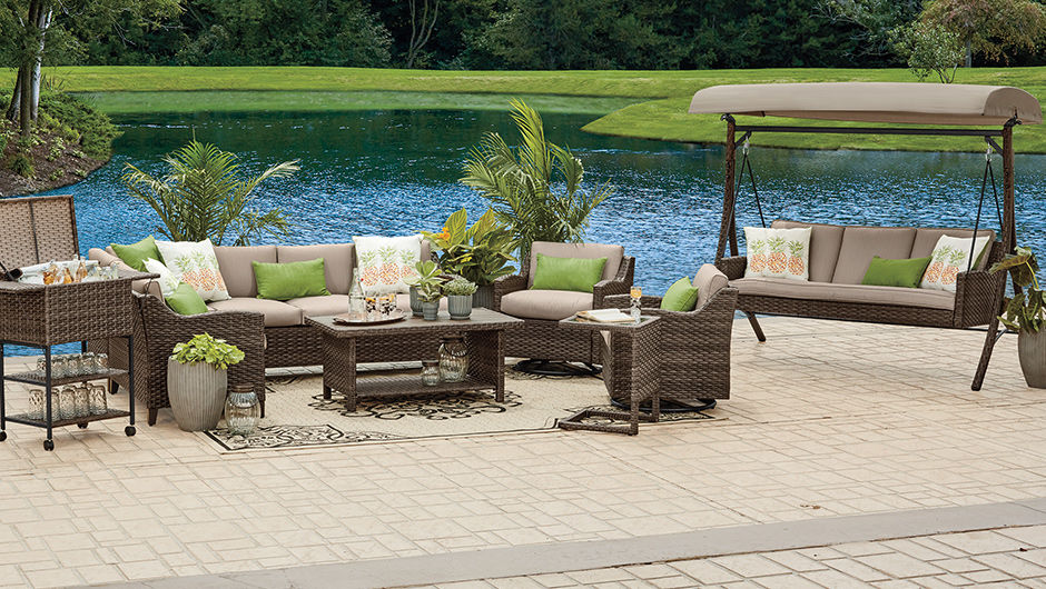 Outdoor: Furniture, Gazebos, Chairs & More | Big Lots on Outdoor Sectional Big Lots id=54539