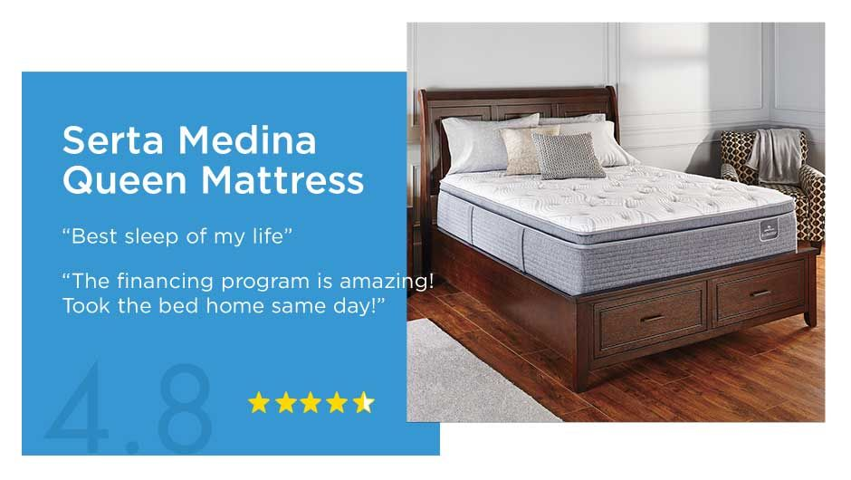 Serta Media Queen Mattress. Rated 4.8 out of 5 Stars.