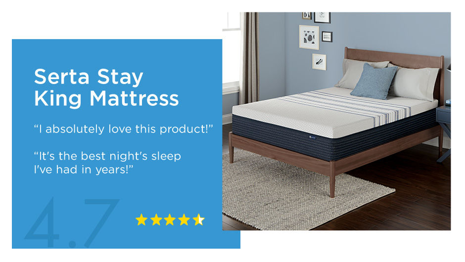Serta Stay King Mattress 4.7 Star Review