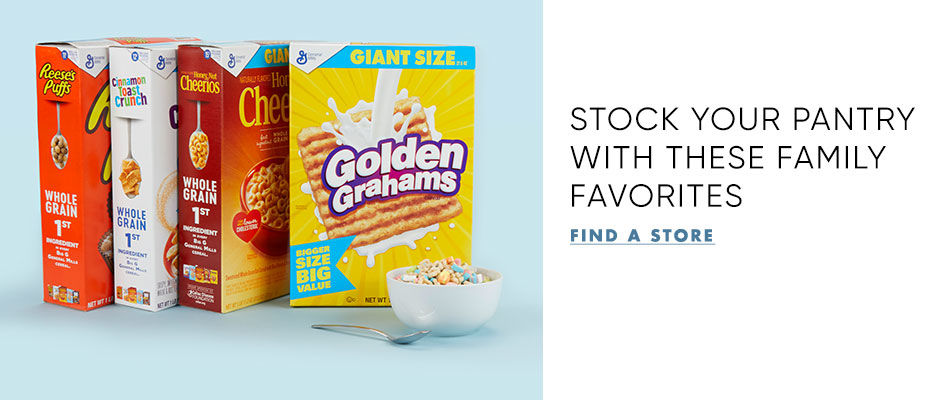 Stock your pantry with these family cereal favorites. Find the nearest store.