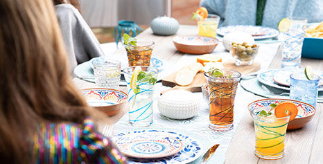 Find super cute and affordable melamine outdoor dinnerware and drinkware at Big Lots