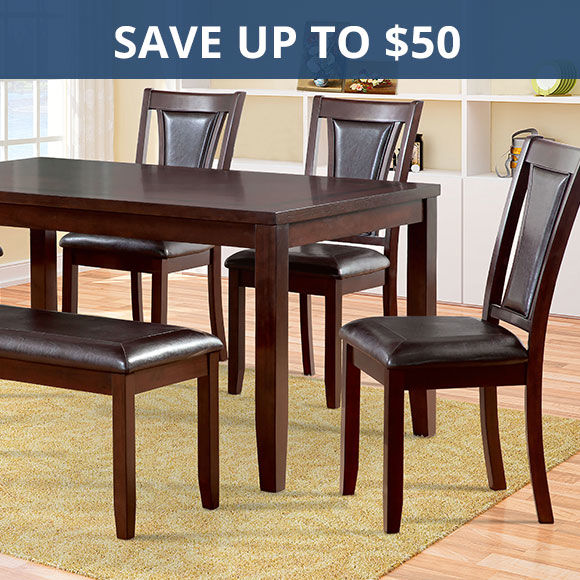 Save Up To 50 Dollars On Dining Room Furniture Shop