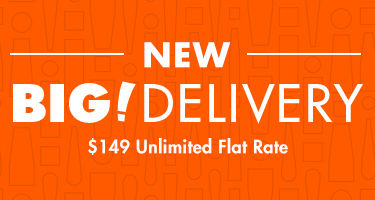 New Big Delivery. $149 Unlimited Flat Rate.